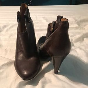 Brown Coach heeled bootie